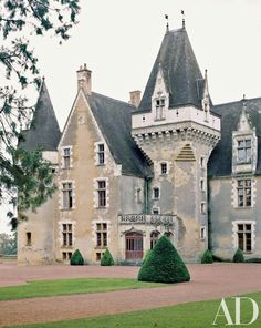 Designer Timothy Corrigan renovated Château de Gallerande, a 15th-century estate…