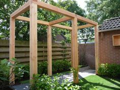 Pergola On Front Of House Product Diy Pergola, Pergola Shade, Pergola Roof, Pergola Kits, Garden Arbor, Terrace Garden, Backyard Patio, Backyard Landscaping, Garden Structures