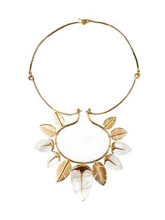 Aurélie Bidermann Talitha mother-of-pearl & gold-plated necklace