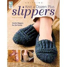 Provide your family and friends with warm, hand-knitted slippers using the designs you'll find in Knit a Dozen Plus Slippers. Create soft, cuddly slippers for the whole family with the 13 slipper projects you'll find in this knit pattern … Read More. Knitting Blogs, Loom Knitting, Knitting Socks, Knitting Patterns Free, Free Knitting, Knitting Projects, Knit Socks, Knit Patterns, Beginner Knitting