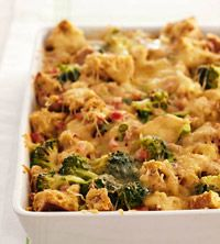 Breakfast Strata - broccoli, sausage