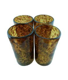 Tortoiseshell Glasses, Highball (Set of Four)