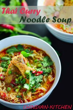 This Ultimate Thai Curry Chicken Noodle Soup