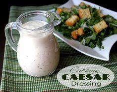 Creamy Caesar Dressing from @jamiecooksitup