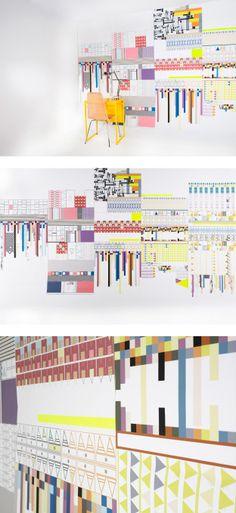 miss- matched wallpaper