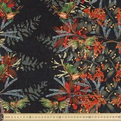 Woodland Forest Faux Silk Suit Black 148 cm