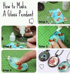 How To Make A Glass Pendant.✨ #Fashion #Trusper #Tip