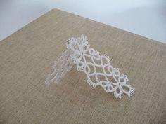 Tatting earrings white handmade jewelry lace by ShopGift on Etsy, $14.00