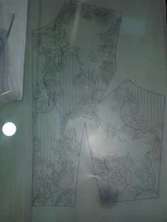 Sketch  of  gown upper part