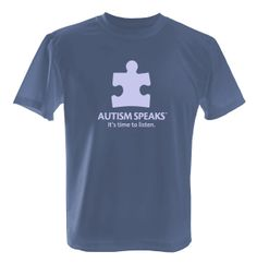 Autism Awareness AUTISM SPEAKS time to listen Adult T-Shirt tshirt