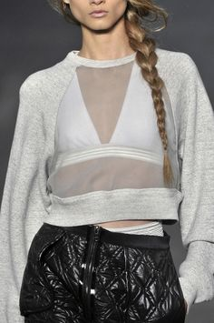 Sheer Panelled Sweatshirt - transparency; sporty fashion details // Alexander Wang Spring 2010