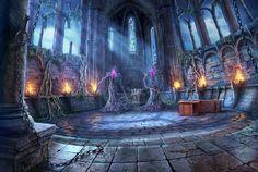 Ritual hall, Sergey Lameyko on ArtStation at https://www.artstation.com/artwork/ln3YV