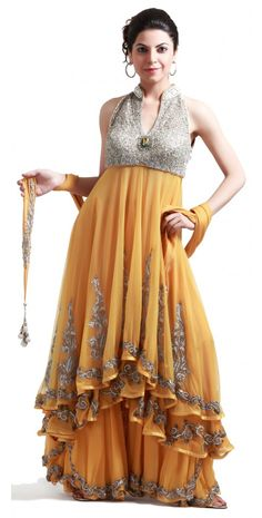 YELLOW BANARASI SHARARA SET