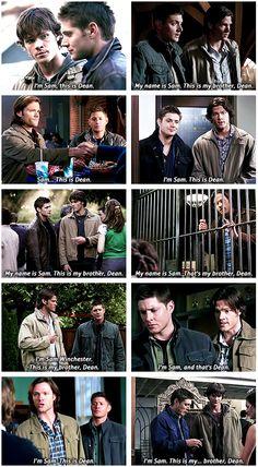 I'm Sam, this is Dean