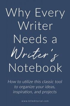 55bc040ed Every writer should keep a writer's notebook. This is the perfect place for  inspiration,