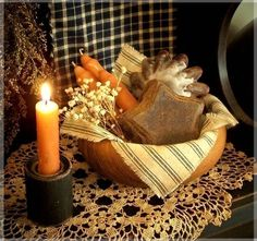 Prim bowl and candle