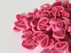 Hearts Pink Hot Fuchsia Table Confetti Dinner Ornaments Baby Bridal Shower Party Decorations Gift Fillers Party Confetti Paper Quilling