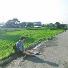 시골 사람 . . #일상 #Daily #논 #landscape #풍경