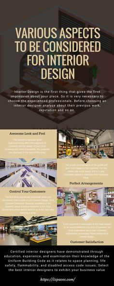 Infographic: Various Aspects to be considered for Interior Design #Infographics