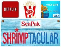Enter to win a prize package for family fun night including a SeaPak VIP product coupon, a 20 Visa gift card, a three-month Netflix subscription and more!