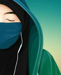 Hijabi Girl, Girl Hijab, Anime Muslim, Muslim Hijab, Muslim Girls, Muslim Women, Muslim Couples, Hijab Drawing, Islamic Cartoon