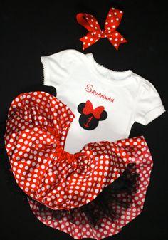 b03b71ec Items similar to Pink Minnie Mouse Tutu Birthday Set with Matching Minnie  Bow, Tutu and Custom Shirt on Etsy