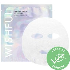 Shop Wishful's Thirst Trap – Cocoon Mask at Sephora. This mask is packed with rose, aloe vera, and sodium hyaluronate to leave skin feeling supple and hydrated. Dry Face, Oily Skin Care, Sheet Mask, Make Me Up, Beauty Industry, Skin Brightening, Funny Gifts, Sephora, The Balm