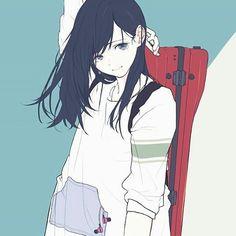new Ideas for hair bun illustration anime art Moe Manga, Manga Anime, Girls Manga, Desu Desu, Character Art, Character Design, Tamako Love Story, Anime Lindo, Estilo Anime