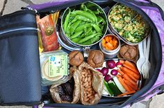@Meagan Peckover:  Packing Healthy Food for Air Travel - The Whole Life Nutrition Kitchen. Some really good information on prepping airport/plane-friendly foods for travel, as well as a handy list of food ideas.