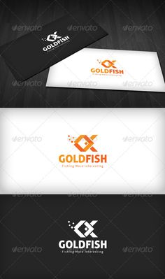 Gold Fish - Logo Design Template Vector #logotype Download it here: http://graphicriver.net/item/gold-fish-logo/1243810?s_rank=962?ref=nexion