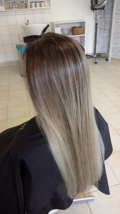 #balayage #blonde #brown #long #hair #straight