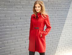 Via Spiga Women's Maria Stand-Collar Coat