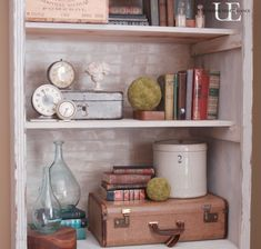 Farmhouse Industrial House Tour - the perfect mix.  Love this entertainment center turned bookcase!