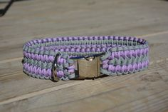 Chloe Braided Paracord Dog Collar Double Wide by CraftsForK9s