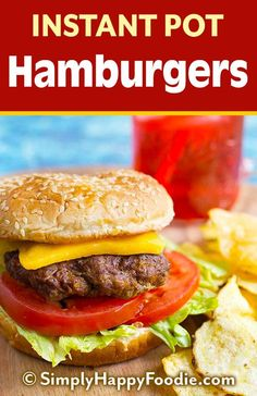 Instant Pot Hamburgers Are So Easy To Make, And Reminiscent Of Those Famous Burger Chains That Make Steamed Burger Patties. These Pressure Cooker Burger Patties Are Juicy And Flavorful, And You Can Make A Big Batch At One Time. Instant Pot Pressure Cooker, Pressure Cooker Recipes, Pressure Cooking, Slow Cooker, Healthy Recipes, Crockpot Recipes, Cooking Recipes, Ninja Recipes, Lunch Recipes