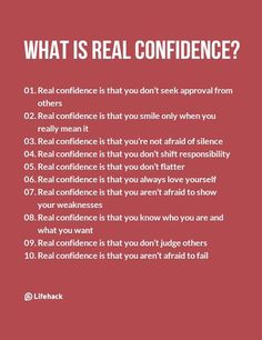 Real Confidence Isn't Like What Most People Think Of – Inspirational Quotes Positive Quotes, Motivational Quotes, Inspirational Quotes, Self Confidence Tips, How To Build Confidence, Confidence Images, Confidence Building, Confidence Boosters Quotes, Quotes About Confidence