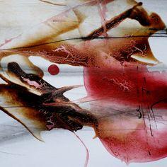 Isabelle Mignot - Cello scent on the lips (6) (Peinture),  12x12 cm - Technique mixte sur papier 12 x 12 cm  Oeuvre vendue sous passe-partout  Collection particulière A. C.