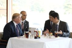 Trump Sticks to His All-American Diet on Visit to Japan - Eaterclockmenumore-arrownoyes : Despite being surrounded by world-class sushi, the President ate steak, ice cream, and a burger