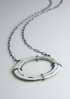 Industrial Enamel Rustic Necklace Cage Set with by MyBrownWren