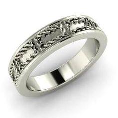Men's - Blue - Men's Ring in Platinum