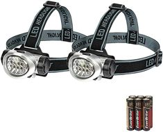 EverBrite 2-Pack Headlamp Flashlight for Running, Camping, Reading, Fishing, Hunting, Walking, Jogging Head Light Durable, Lightweight Batteries Included - - Amazon.com Glow Tape, Left Handed Scissors, Foam Ear Plugs, Back Scratcher, Best Camping Gear, Camping Stuff, Wool Dryer Balls, Camping Lanterns, Camping Accessories