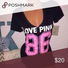 VS PINK Tee Sz Xs can fit a Sz S as well. Great condition! Victoria's Secret Tops Tees - Short Sleeve