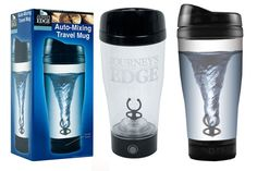 A Journeys Edge Auto-Mixing Travel Mug Shade Grown and Fresh . Travel Mugs, Coffee Travel, Water Bottle, Journey, Fresh, Tableware, Products, Dinnerware, Tablewares