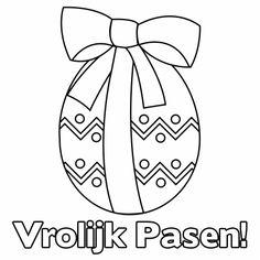 Kleurplaat kaarten - Paaskleurplaat paasei Easter Crafts, Spring, Google Images, Bullet Journal, Letters, Logos, Drawings, Kids, Psg