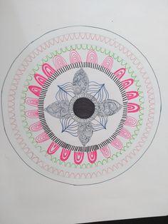 Semana 2. Mandala 4 Elaborado con rotuladores