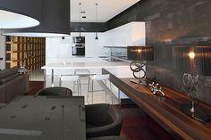 Ambientes integrados - cozinha + sala Kutuzovskaya Riviera by Geometrix Design