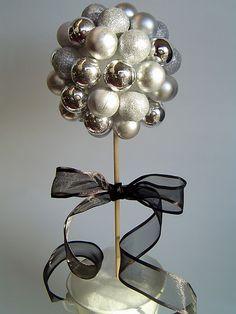 Christmas bulb topiary