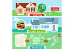 Sale, Buying House and Mortgage by robuart on Creative Market