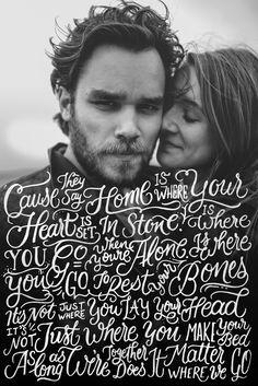 """Home"" (Gabrielle Aplin) | Handlettering by designer Ian Barnard"