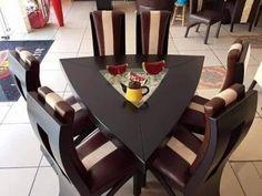 Dinning Table Design, Dining Room Furniture Design, Wooden Dining Table Designs, Wooden Dining Tables, Dining Nook, Deco Furniture, Dining Table In Kitchen, 12 Seater Dining Table, Unique Dining Tables